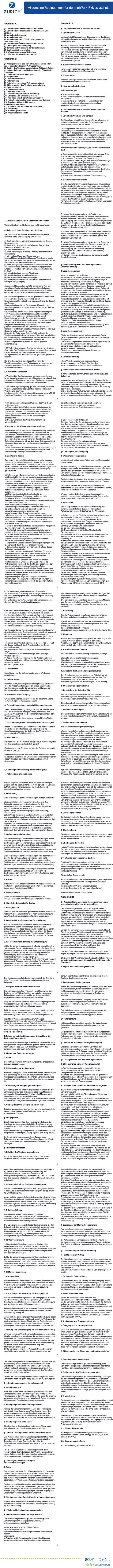 nähPark Exklusivschutz AGBs