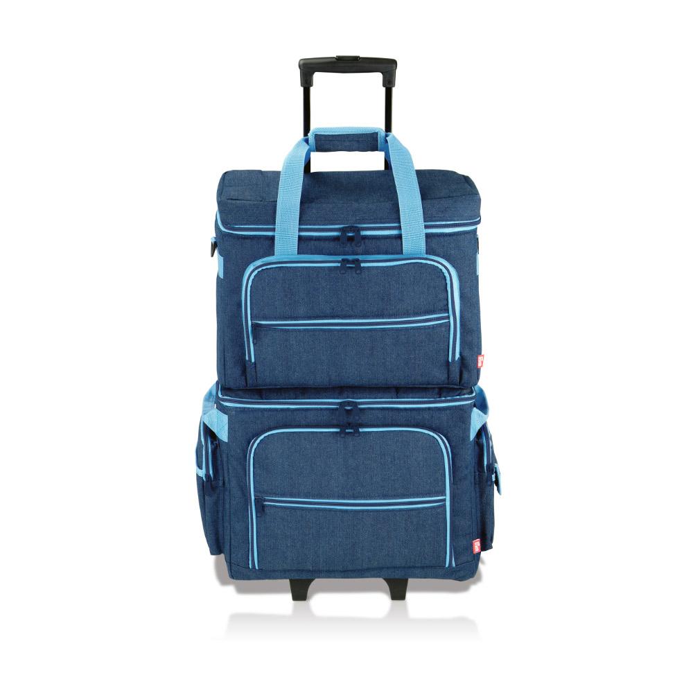 Die ideale Ergänzung zum Trolley ist die Nähmaschinen-Tasche (separat erhältlich)