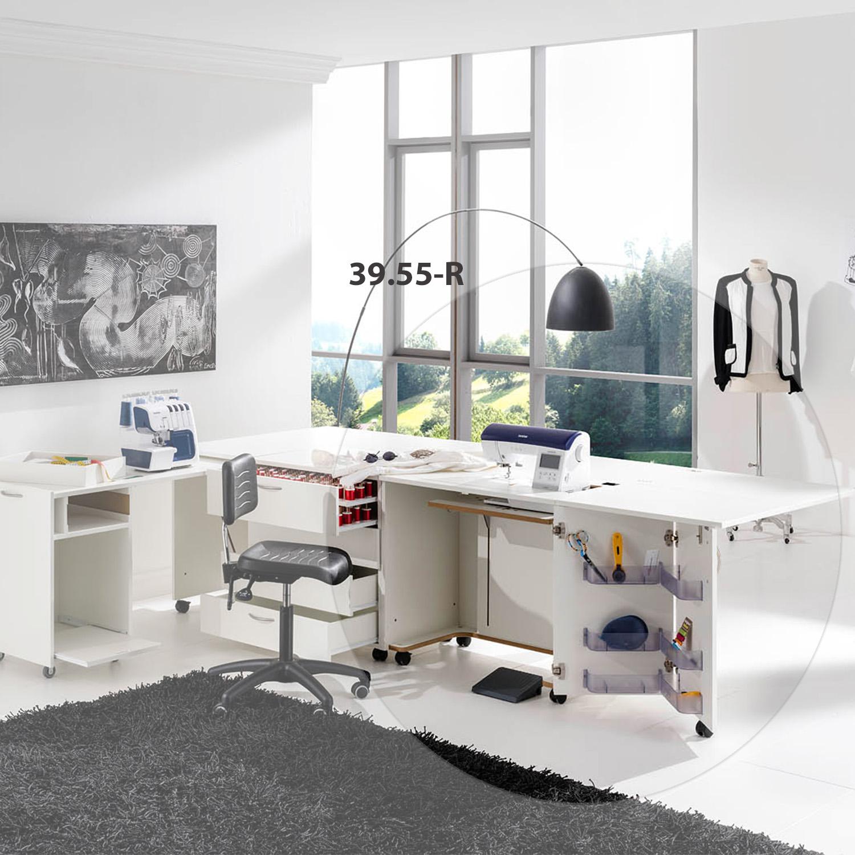 Die Möbelkombination Dublin ist eine praktische Zusammenstellung aus Nähmöbel, Rollschrank und Auszugscontainer.