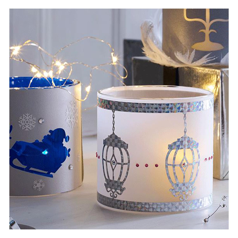 Wunderschöne Teelichter können mit diesen Mustern gestaltet werden.