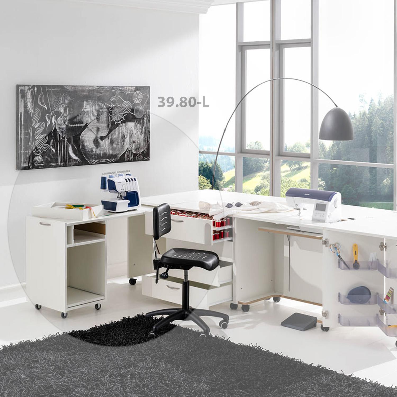 Die Kombination Dublin besteht aus drei Möbeln und bietet viel Platz für Zubehör.