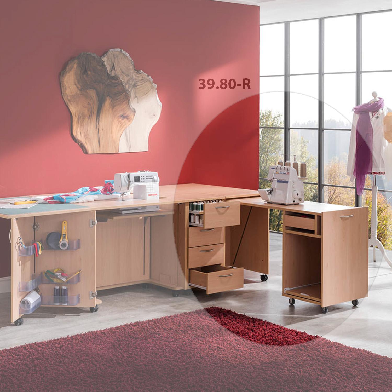 Die Kombination Moskau besteht aus 3 Möbeln und bietet viel Platz zum für Nähzubehör.