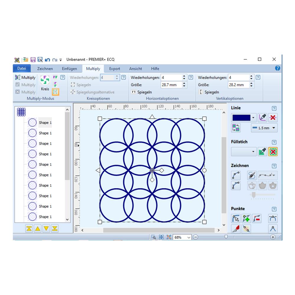 Bei der Vervielfachung einfacher Formen entsteht ein besonderes Muster.