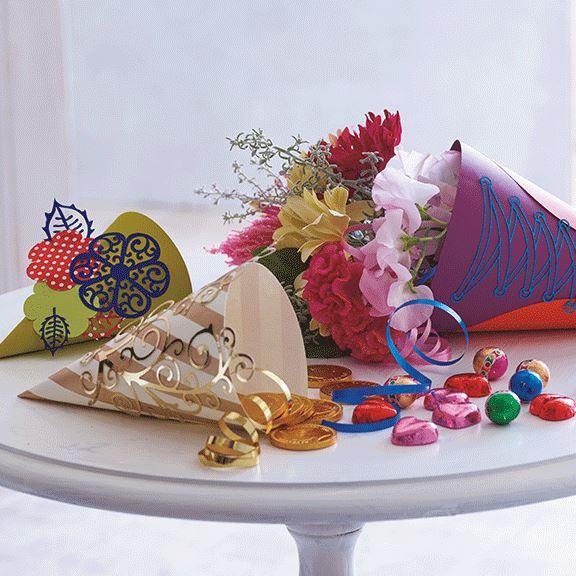 Mit den Mustern können kreative Überraschungstüten designt werden.