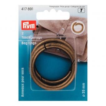 PRYM Taschenringe 35mm altmessing