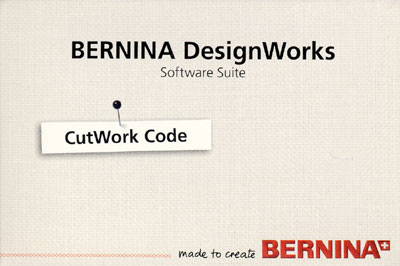 BERNINA Cutwork Software Aktivierungs - Code