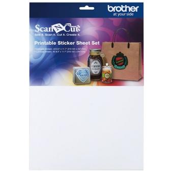 BROTHER Set mit bedruckbarem Aufkleberpapier