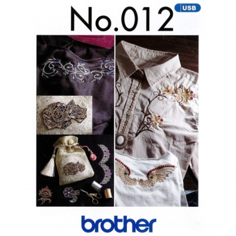 BROTHER Stickmuster USB-Stick 12 Dekorative Muster