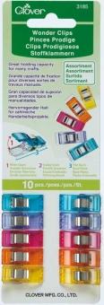 CLOVER Wonder Clips 10 Stück farbig sortiert