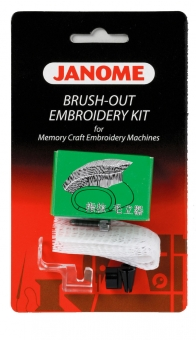 JANOME Brush-Out Kit für Stickmaschinen