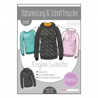 KI-BA-DOO Papierschnittmuster Basic Raglan-Sweater