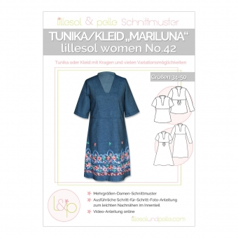 LILLESOL Papierschnittmusterwomen No. 42 Tunika/Kleid Mariluna