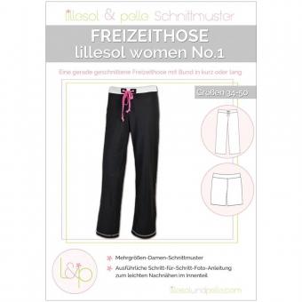 LILLESOL Women Papierschnittmuster No.1 Freizeithose