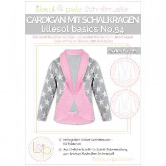 LILLESOL Basics Papierschnittmuster No.54 Cardigan mit Schalkragen