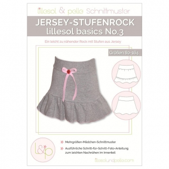LILLESOL Basics Papierschnittmuster No.3 Jersey-Stufenrock