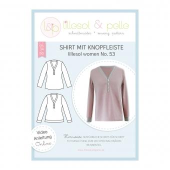 LILLESOL Women Papierschnittmuster No. 53 Shirt mit Knopfleiste