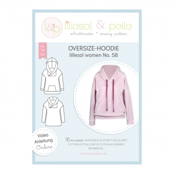 LILLESOL Women Papierschnittmuster No. 58 Oversize-Hoodie