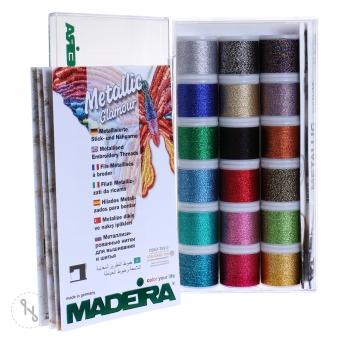 MADEIRA Stickbox Metallic Supertwist 18 x 200m