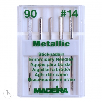 MADEIRA Sticknadeln Metallic Stärke 90 5er Pack