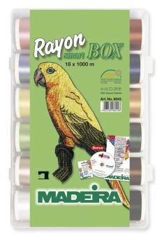 MADEIRA Smart Box Rayon No.40 1000m x 18 Spulen