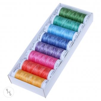 METTLER Polysheen Farbkit 8 Farben 200m Multicolor Pastell