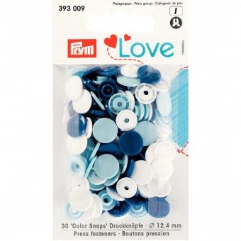 PRYM Love Color Snaps blau/weiß/hellblau