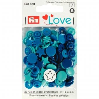 PRYM Love Color Snaps Stern blau/türkis/tinte