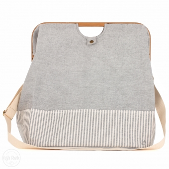 PRYM Store & Travel Bag canvas & bamboo M grau