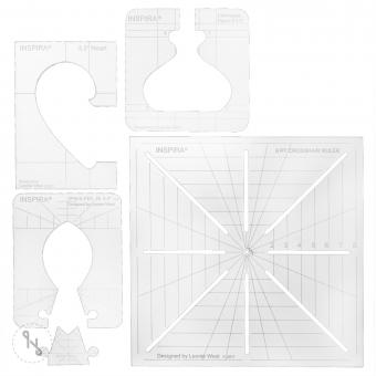 INSPIRA Quiltschablonen-Set für Rulerwork