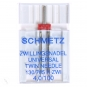 SCHMETZ Zwillingsnadel extrabreit, Breite 4.0 mm, Stärke 100