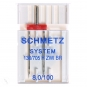 SCHMETZ Zwillingsnadel extrabreit, Breite 8.0 mm, Stärke 100
