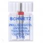 SCHMETZ Zwillings-Universal-Nadel Stärke 90, Breite 3 mm