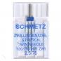 SCHMETZ Zwillingsnadeln Stretch Stärke 75, Breite 2,5 mm