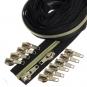 Gold metallisierter Reißverschluss 3 m B5 schwarz