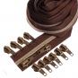 Kupfer metallisierter Reißverschluss 3 m B26 braun