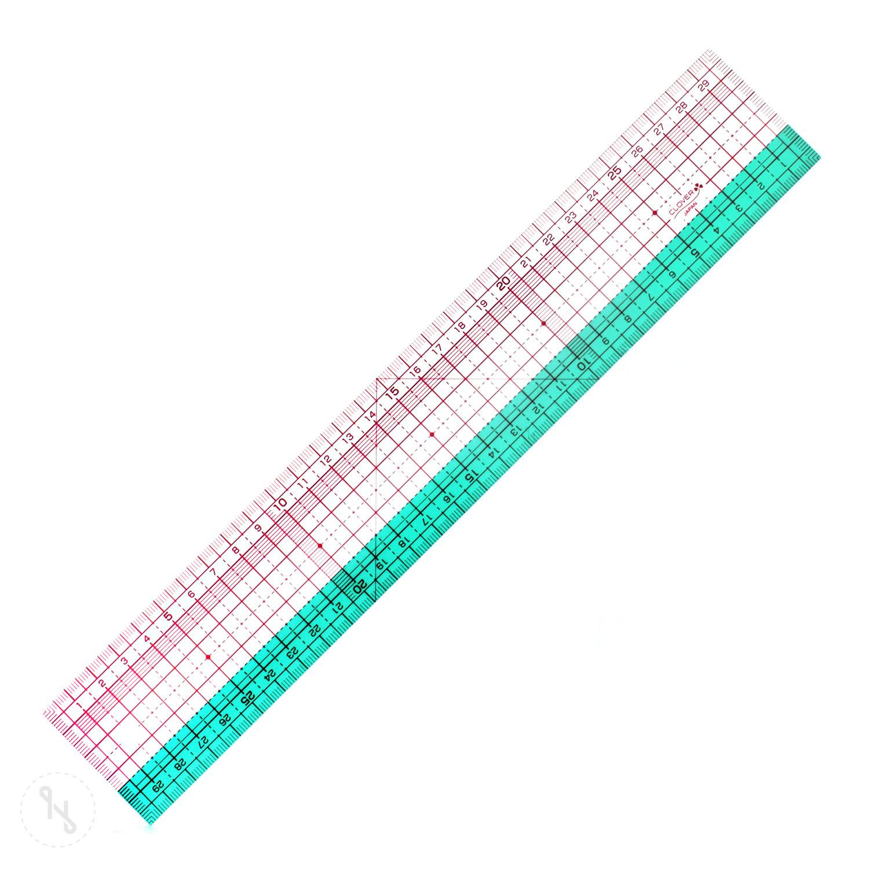 CLOVER Flexibles Stoffmesslineal 30 cm