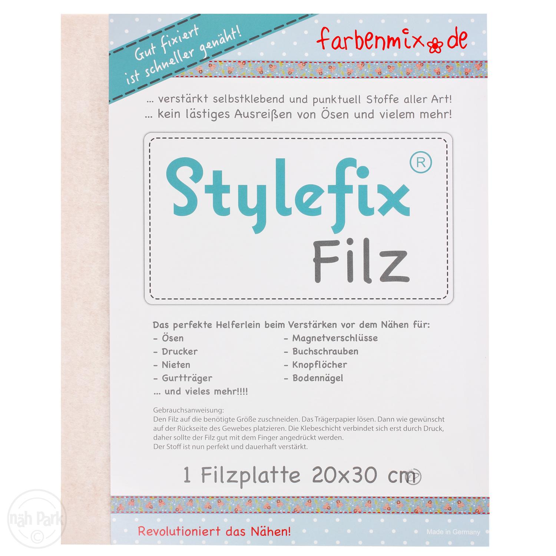 FARBENMIX Stylefix-Filz ca. 20 x 30 cm