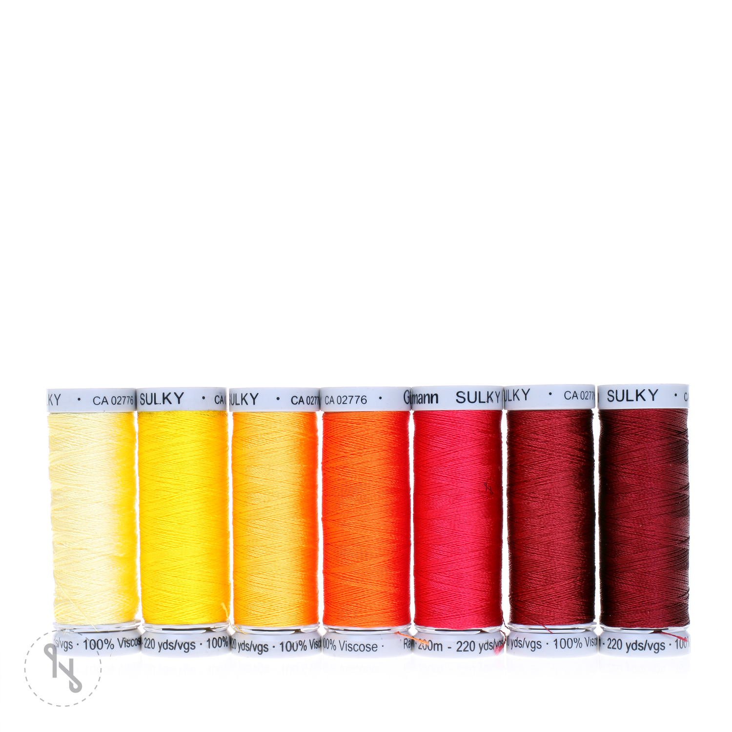 GÜTERMANN Stickfaden Set Rayon 40 7 Spulen 200m Sunrise