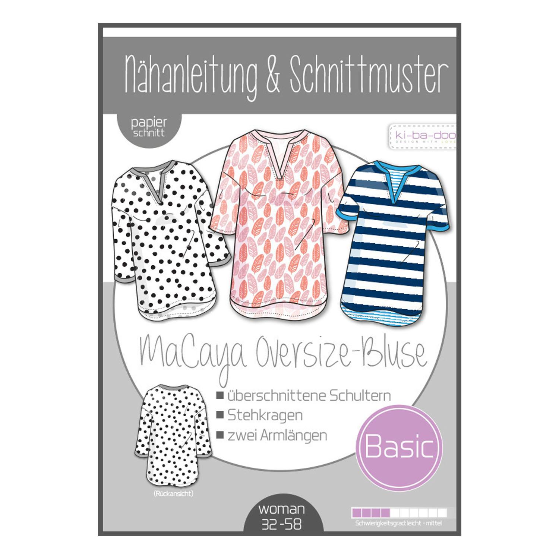 KI-BA-DOO Papierschnittmuster Oversize-Bluse MaCaya