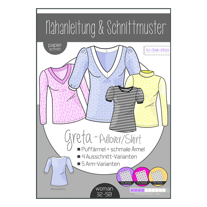 KI-BA-DOO Papierschnittmuster Shirt/Pulli Greta