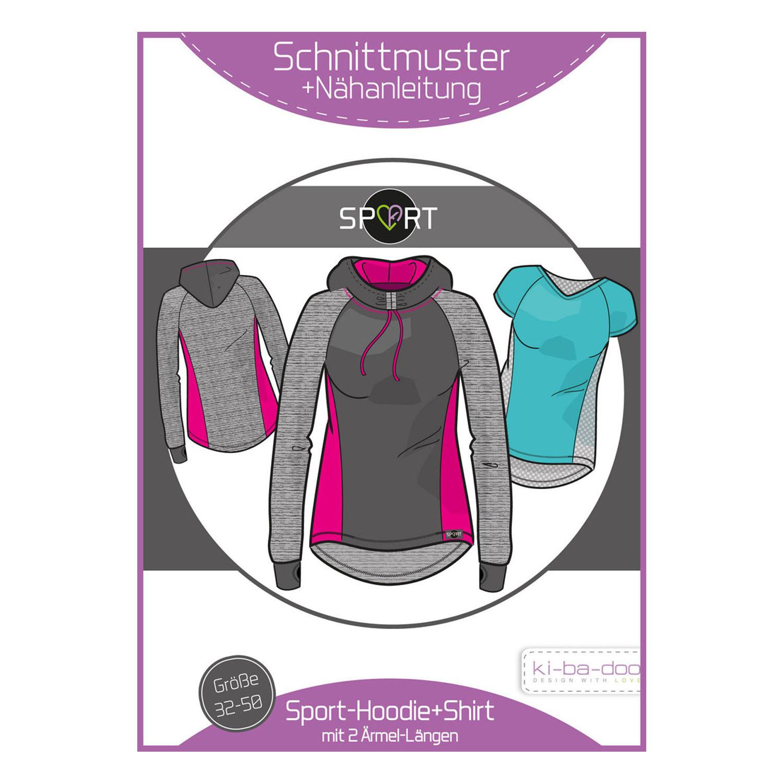 KI-BA-DOO Papierschnittmuster Sport-Hoodie und Shirt