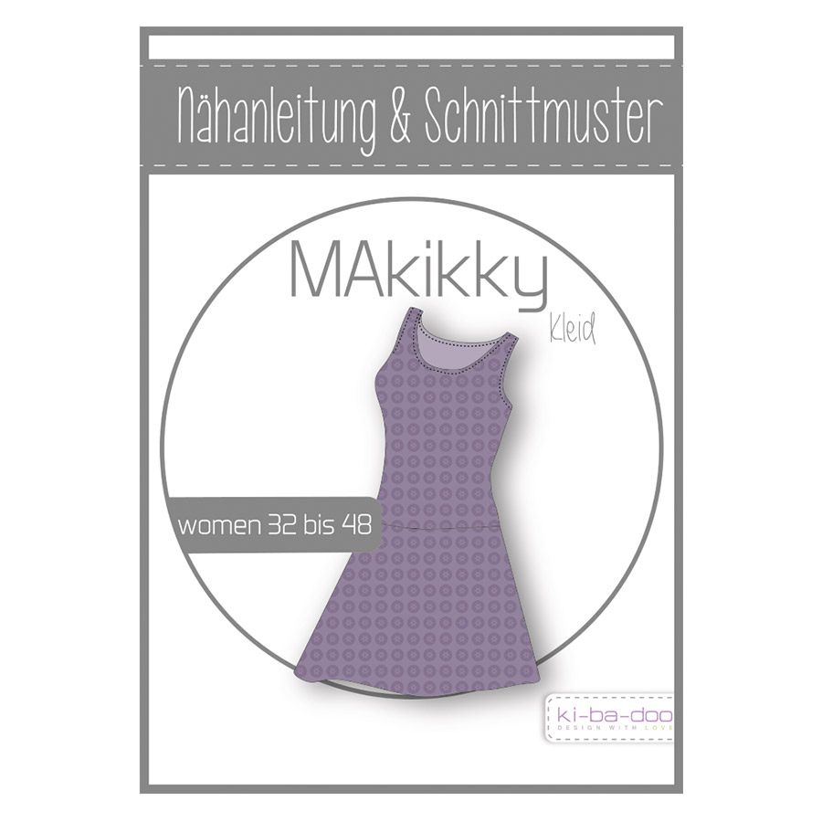 KI-BA-DOO Papierschnittmuster Kleid MAkikky