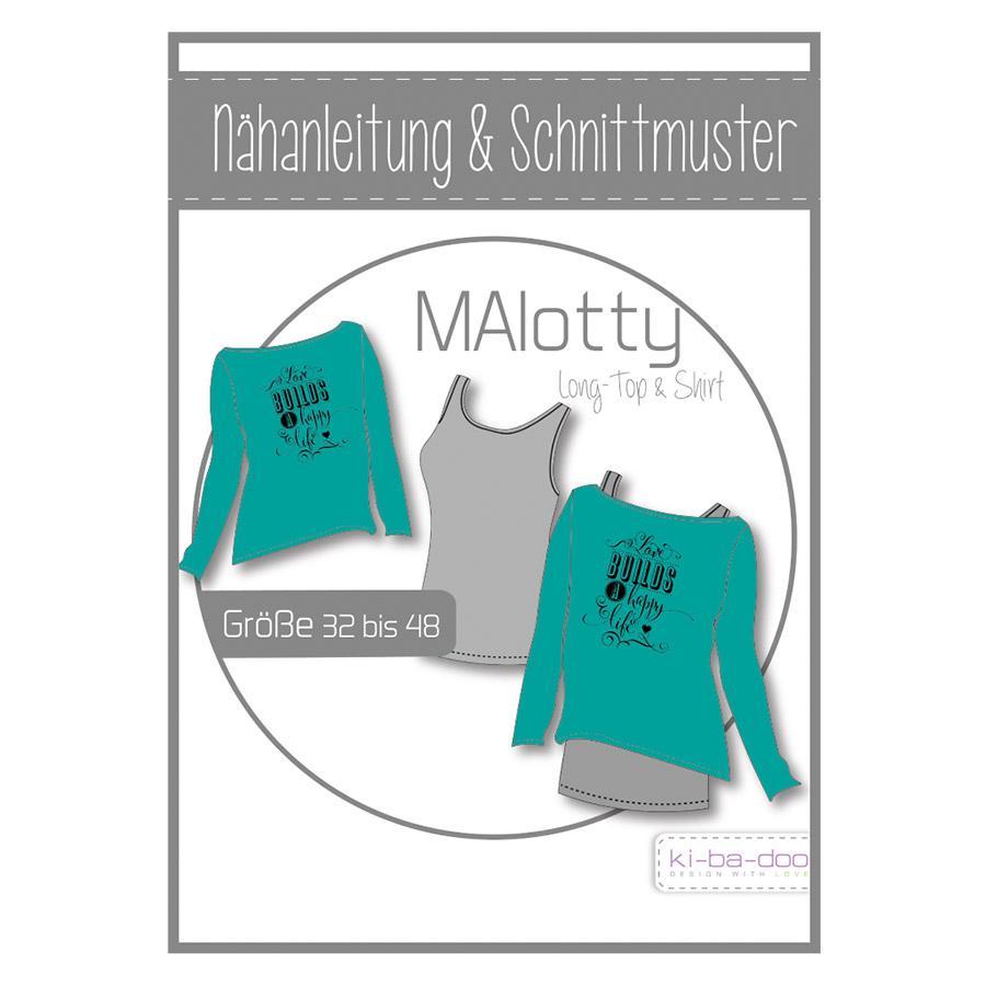 KI-BA-DOO Papierschnittmuster Long-Top & Shirt MAlotty