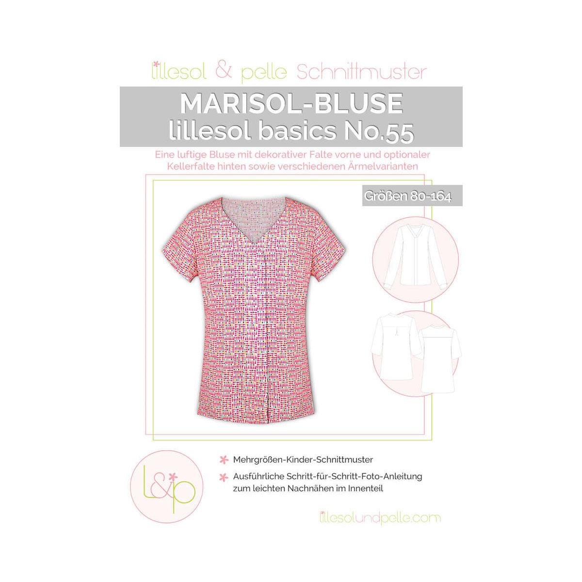 LILLESOL Basics Papierschnittmuster No.55 Marisol-Bluse