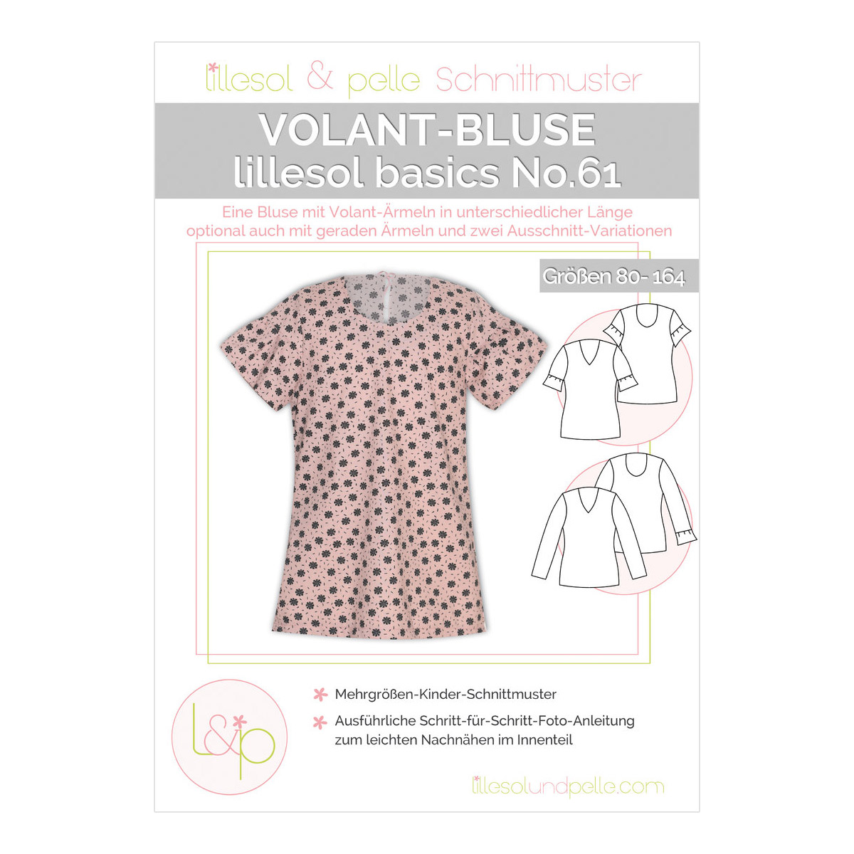 LILLESOL Basics Papierschnittmuster No.61 Volant-Bluse