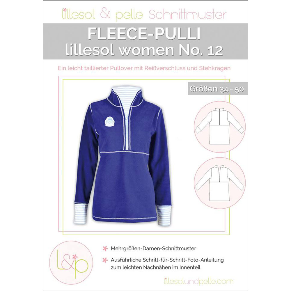 LILLESOL Women Papierschnittmuster No.12 Fleece-Pulli