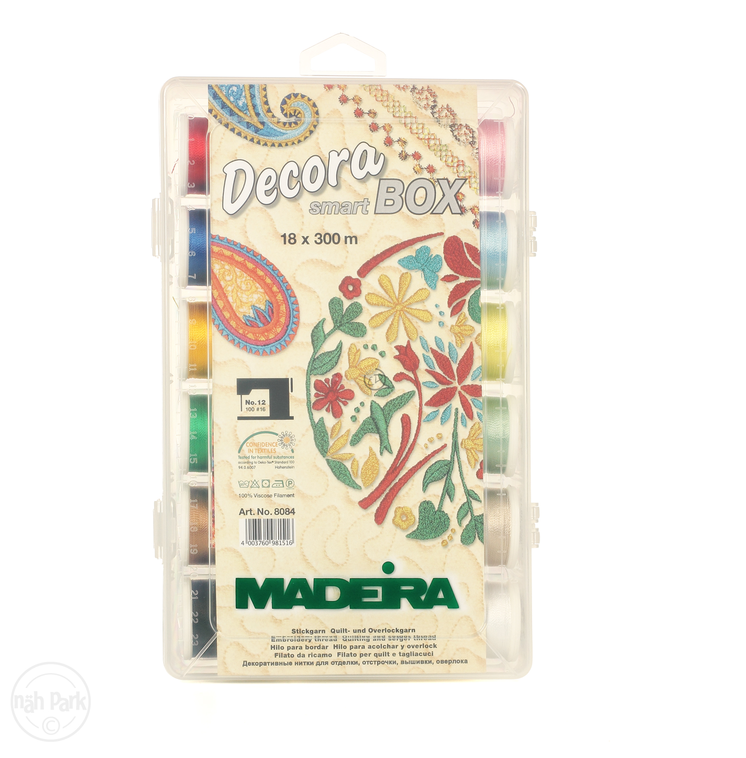 MADEIRA Smart Box Decora No.12 300m x 18 Spulen