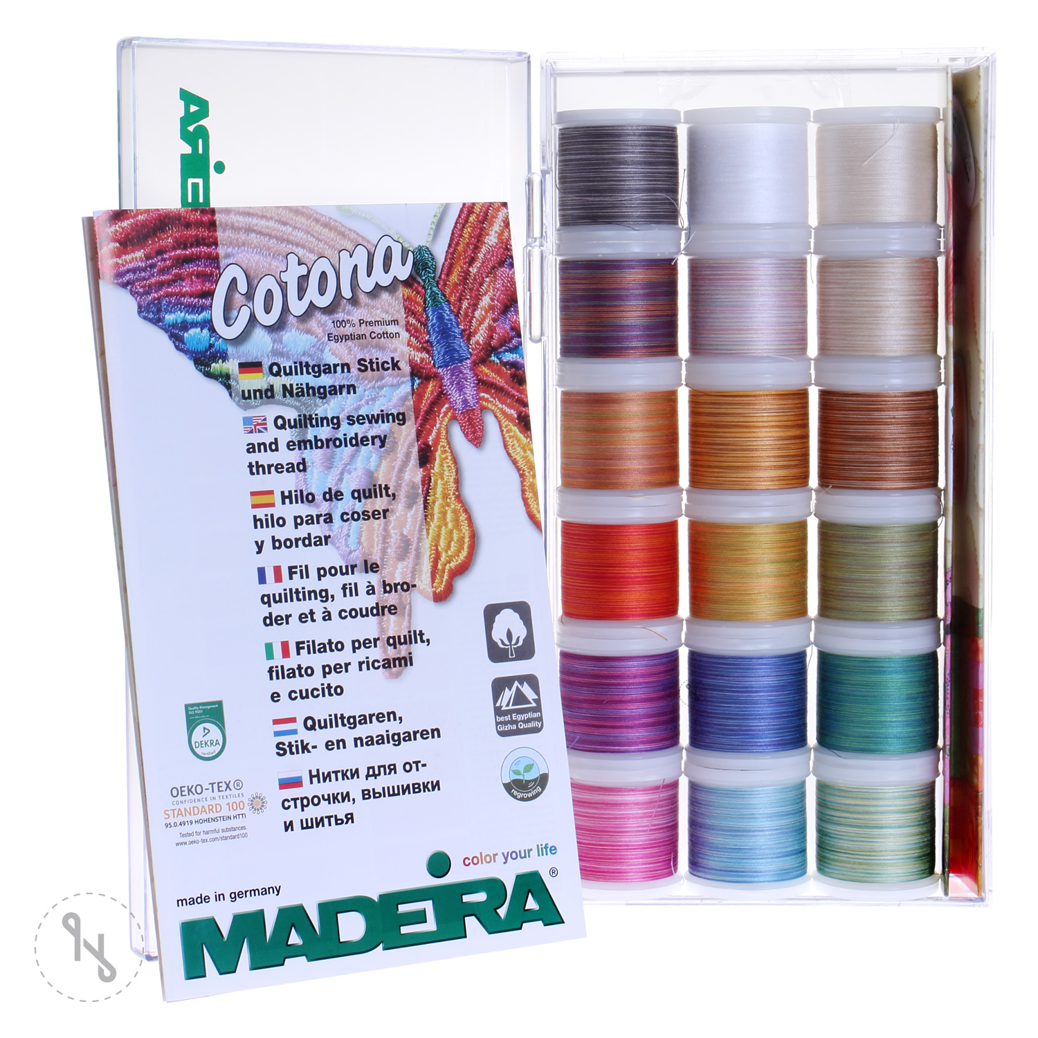 MADEIRA Stickbox Cotona mulitcolor No. 50 18 x 200m