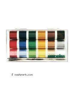 MADEIRA Stickbox Rayon 18 Spulen 200m