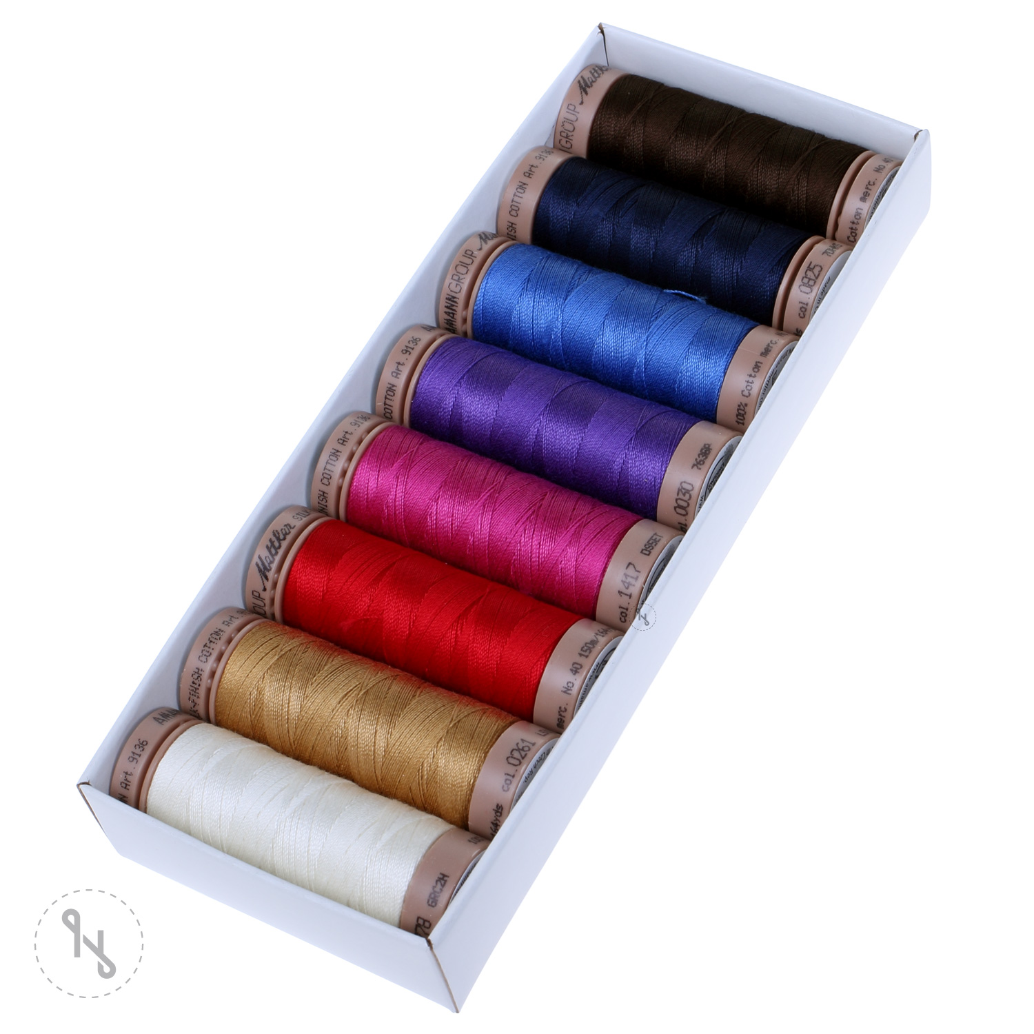 METTLER Farbkit Silk Finish Cotton Quilting 8 Farben 150m